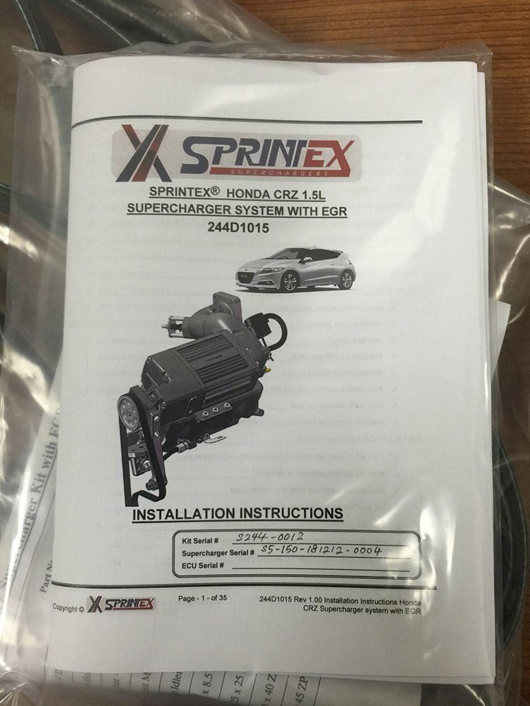 SPRINTEX Supercharger Kits for CR-Z - BEST BANG FOR YOUR