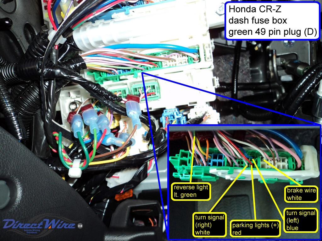 rear view camera | Honda CR-Z Hybrid Car Forums Honda Cr Z Fuse Box on