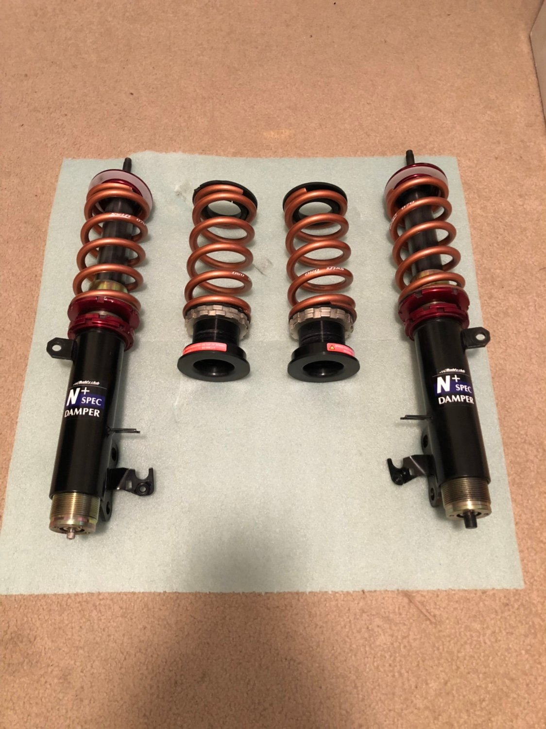 For Sale - Buddyclub Coilovers with swift springs and rear