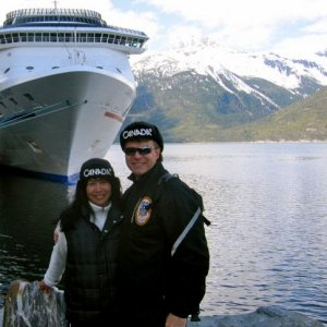 Shell and I in Skagway in May of 2010 during our Alaskan Cruise on the Carnival Spirit